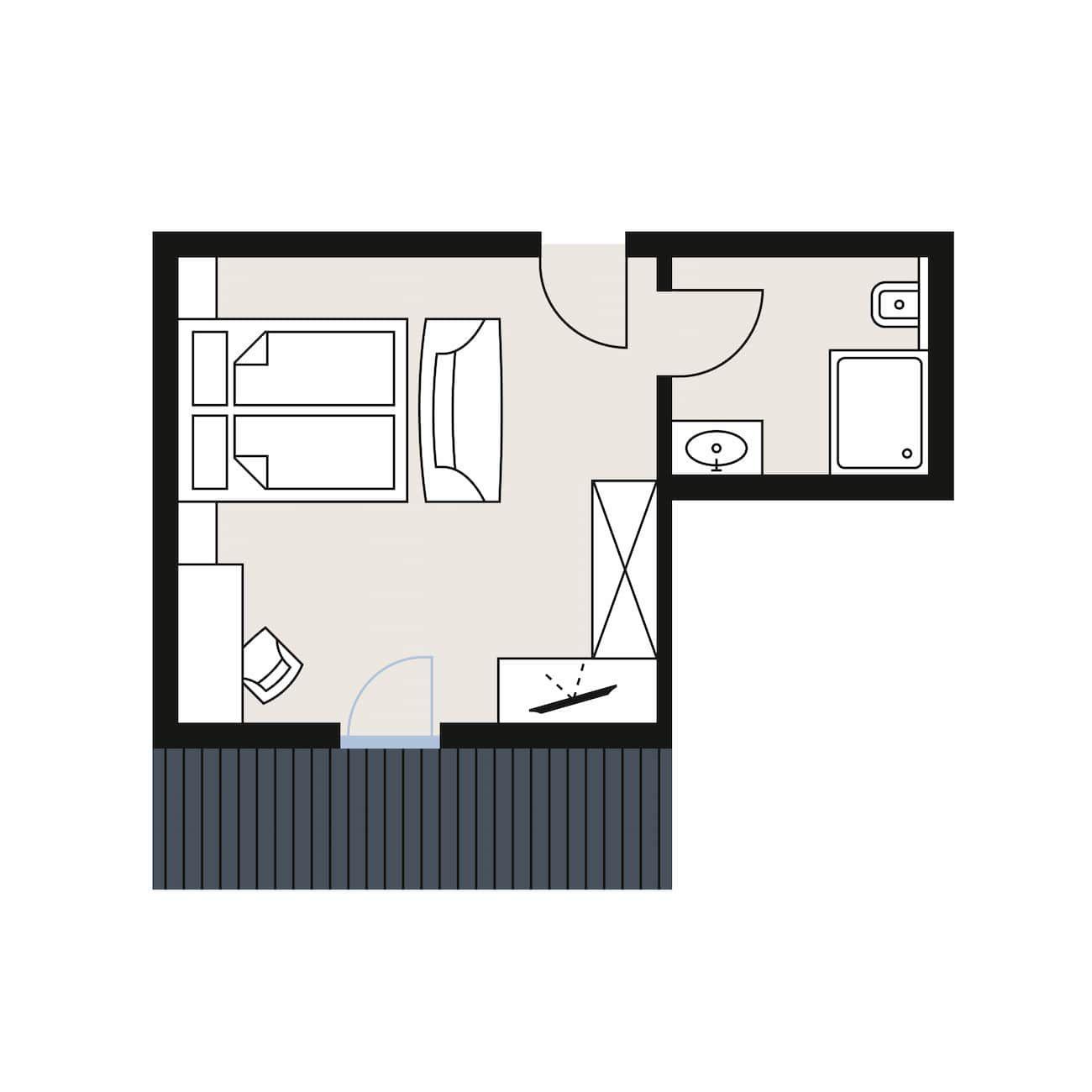 Superior Galzig Room Hotel Alpina Arlberg Sketch